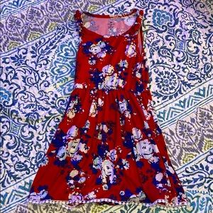 Girls red white and blue dress